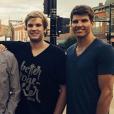 Kyle Korver (à droite) et ses frères Klayton, Kaleb et Kirk, photo throwback publiée sur Instagram en mars 2017. Kirk, benjamin et troisième en partant de la gauche, est mort le 21 mars 2018 à 27 ans des suites d'une maladie.