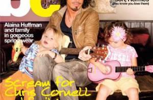 Chris Cornell... Un rockeur qui prend la pose avec ses deux adorables bambins !