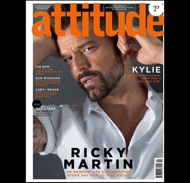 Ricky Martin en coverture de Attitude, mai 2018