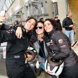 "Exclusif - Laurie Cholewa, Sandra Sisley, Aïda Touihri - Course ""Talon Pointe by Abarth"" au circuit Bugatti du Mans les 24 et 25 mars 2018."