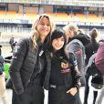 "Exclusif - Sarah Lavoine, Samar Seraqui de Buttafoco - Course ""Talon Pointe by Abarth"" au circuit Bugatti du Mans les 24 et 25 mars 2018."