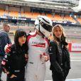 "Exclusif - Samar Seraqui de Buttafoco, Sarah Lavoine - Course ""Talon Pointe by Abarth"" au circuit Bugatti du Mans les 24 et 25 mars 2018."