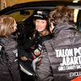 """Exclusif - Sarah Lavoine et ses enfants - Course """"Talon Pointe by Abarth"""" au circuit Bugatti du Mans les 24 et 25 mars 2018."""