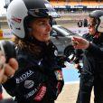 """Exclusif - Agnès Boulard (Mademoiselle Agnès), Emma de Caunes en pleurs, Karole Rocher - Course """"Talon Pointe by Abarth"""" au circuit Bugatti du Mans les 24 et 25 mars 2018."""