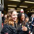 """Exclusif - Marie-Ange Casta, Hapsatou Sy - Course """"Talon Pointe by Abarth"""" au circuit Bugatti du Mans les 24 et 25 mars 2018."""
