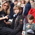 """Exclusif - Sandra Sisley, Sarah Lavoine et ses fils - Course """"Talon Pointe by Abarth"""" au circuit Bugatti du Mans les 24 et 25 mars 2018."""