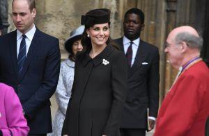 Kate Middleton très enceinte à la messe de Pâques, Meghan et Harry absents