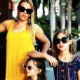 Busy Philipps et ses filles Birdie et Cricket en vacances à Hawaï. Mars 2018.