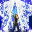 Céline Dion en concert au stade Allianz Riviera à Nice le 20 juillet 2017.
