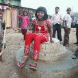La petite Rubina Ali de Slumdog Millionnaire le 8 mars 2009 à Mumbai en Inde