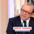 Hervé Témime, avocat de Laura Smet, dans C à Vous le 13 avril 2018.