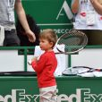 "Stefan, le fils de Novak Djokovic lors d'un tournoi caritatif au bénéfice de la fondation Prince Albert II en marge du tournoi de tennis Rolex Masters à Monte-Carlo le 14 avril 2018. L'événement sera retransmis sur l'émission ""James Corden Tv Show"" sur Sky UK. © Bruno Bebert / Bestimage"