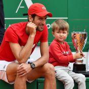 Novak Djokovic : Tendre papa avec son fils Stefan, qui suit sur ses traces
