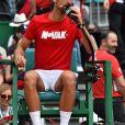 """Novak Djokovic lors d'un tournoi caritatif au bénéfice de la fondation Prince Albert II en marge du tournoi de tennis Rolex Masters à Monte-Carlo le 14 avril 2018. L'événement sera retransmis sur l'émission """"James Corden Tv Show"""" sur Sky UK. © Bruno Bebert / Bestimage"""