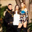 Jeremy Scott, Ann-Sofie Johansson et Gigi Hadid annoncent la sortie de la collection Moschino TV H&M. Avril 2018.