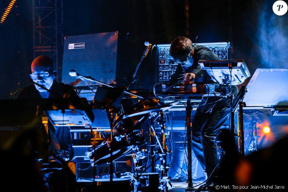Jean-Michel Jarre sur scène au festival Coachella, à Indio, le vendredi 13 avril 218.