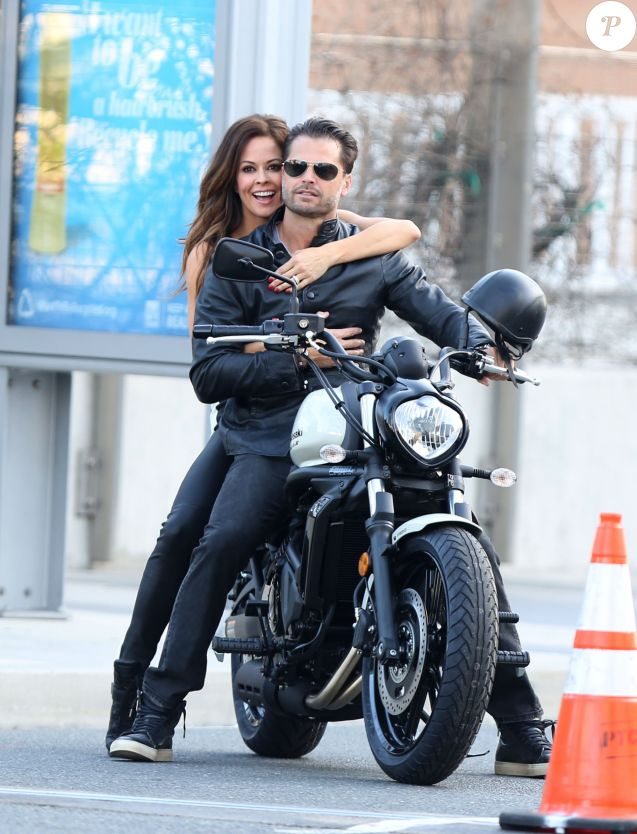Séance photo de Brooke Burke et David Charvet pour l'émission TV 'Celebrity Apprentice' Los Angeles, le 12 Février 2016.