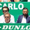 Cyril Hanouna dans les tribunes du Rolex Monte-Carlo Masters 2018 à Roquebrune Cap Martin, France, le 21 avril 2018.