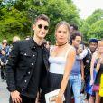 Pierre Niney et sa compagne Natasha Andrews arrivent au défilé de mode Dior homme printemps-été 2018 au Grand Palais à Paris, France, on June 24, 2017. © CVS/Veeren/Bestimage