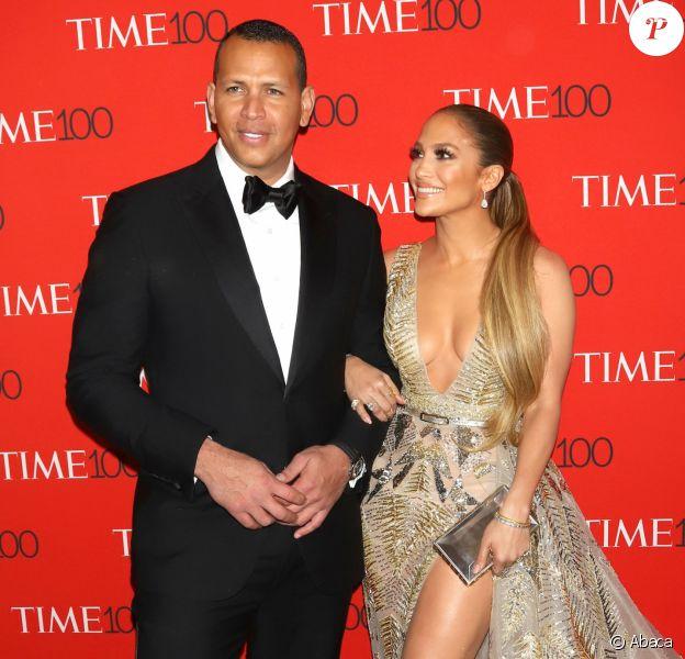 Jennifer Lopez et son compagnon, Alex Rodriguez, au Time 100 Gala à New York, ce 24 avril 2018.