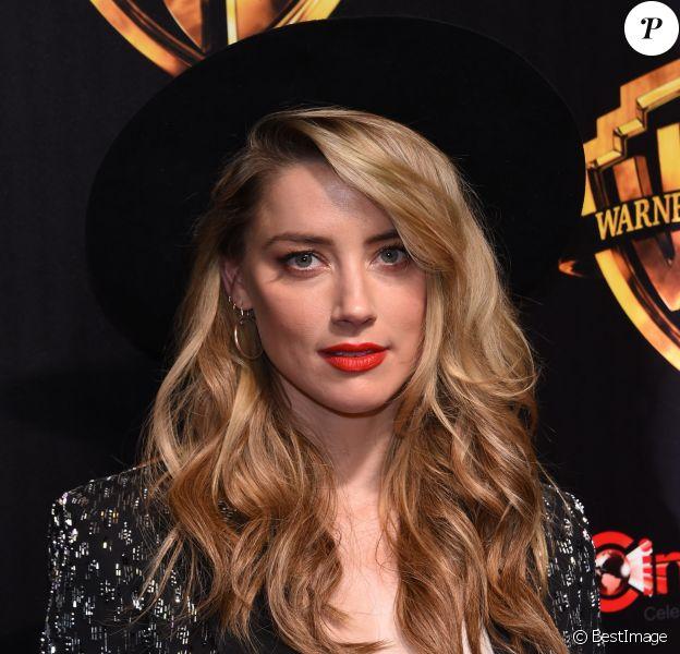 Amber Heard à la soirée Warner Bros au CinemaCon 2018 à l'hôtel Caesar palace à Las Vegas, le 24 avril 2018