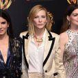 Sandra Bullock, Cate Blanchett, Anne Hathaway à la soirée Warner Bros au CinemaCon 2018 à l'hôtel Caesar palace à Las Vegas, le 24 avril 2018