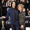 Russell Brand et sa mère Barbara aux Oscars le 11 février 2011.