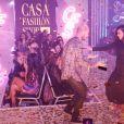 """Exclusif - Matt Pokora et Jenifer à la 12ème édition du """"Casa Fashion Show"""" au Sofitel Casablanca Tour Blanche à Casablanca au Maroc le 21 avril 2017. © Philippe Doignon/Bestimage"""