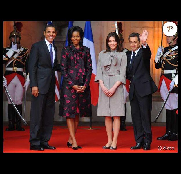Barack Obama et sa femme Michelle, Carla Bruni et son mari Nicolas Sarkozy