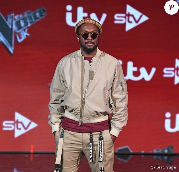"""Will.i.am au photocall du jury de """"The Voice UK"""" à Londres, le 5 avril 2018."""