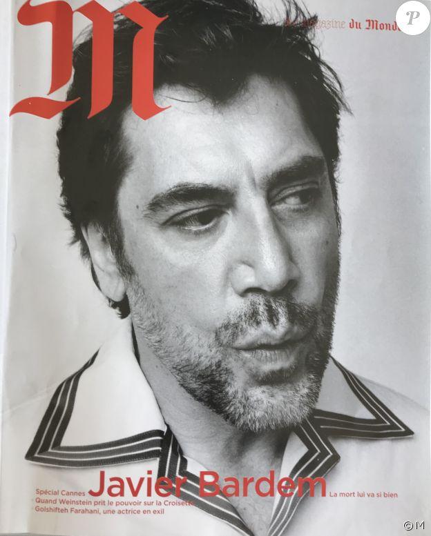 Javier Bardem en couverture de M, le magazine du Monde, en kiosques le 4 mai 2018.