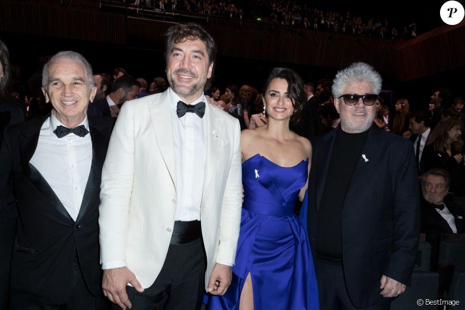 Javier Bardem Penélope Cruz Pedro Almodovar Alain Terzian- 43e cérémonie des César à la salle Pleyel à Paris le 2 mars 2018