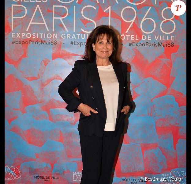 Exclusif - Anne Sinclair - Vernissage de l'exposition du photographe Gilles Caron à la Mairie de Paris le 3 mai 2017. © Veeren/Bestimage
