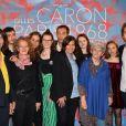 Exclusif - Anne Hidalgo et la famille Caron     - Vernissage de l'exposition du photographe Gilles Caron à la Mairie de Paris le 3 mai 2017. © Veeren/Bestimage
