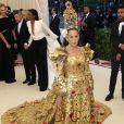 Sarah Jessica Parker (Robe Dolce & Gabbana) - Les célébrités arrivent à l'ouverture de l'exposition Heavenly Bodies: Fashion and the Catholic Imagination à New York, le 7 mai 2018