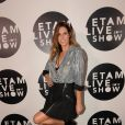 """Laury Thilleman au photocall du 10ème édition du """"Etam Live Show"""" (Etam Lingerie) lors de la Fashion Week à Paris, le 26 septembre 2017."""