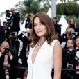 """Carla Bruni Sarkozy (bijoux Chopard) - Montée des marches du film """" Le Grand Bain """" lors du 71ème Festival International du Film de Cannes. Le 13 mai 2018 © Giancarlo Gorassini / Bestimage"""