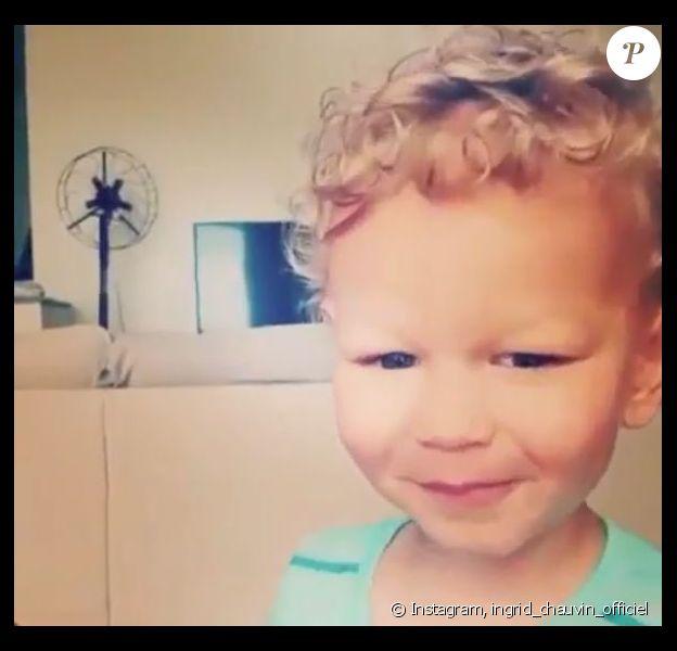 Ingrid Chauvin a partagé une vidéo de son fils Tom sur Instagram. Mai 2018.
