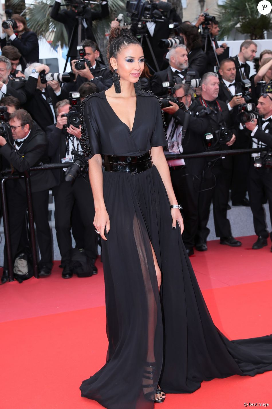 """Flora Coquerel - Montée des marches du film """" Blackkklansman """" lors du 71ème Festival International du Film de Cannes. Le 14 mai 2018 © Borde-Jacovides-Moreau/Bestimage"""