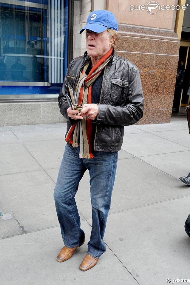 Robert Redford à Manhattan le 16 mars 2009