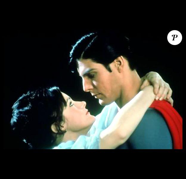 Margot Kidder et Christopher Reeve dans Superman