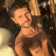 Christophe Beaugrand au Mexique, torse nu, le 3 janvier 2018.