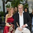 "Mika Häkkinen et sa femme Marketa - Les célébrités lors de la présentation de la collection Dynasty 2019 du créateur Philipp Plein dans sa villa ""La Jungle du Roi"" pendant le 71ème Festival International du Film de Cannes, France, le 16 mai 2018."