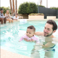 Alexis Olympia et ses parents Serena Williams et Alexis Ohanian. Mars 2018.