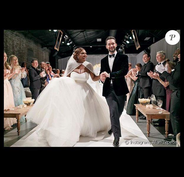 Mariage de Serena Williams et Alexis Ohanian Sr. à la Nouvelle-Orléans. Le 16 novembre 2017.
