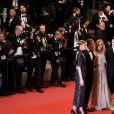 """Kate Moran (Robe Chanel), Yann Gonzalez, Vanessa Paradis, Nicolas Maury - Montée des marches du film """" Un couteau dans le coeur """" lors du 71ème Festival International du Film de Cannes. Le 17 mai 2018 © Borde-Jacovides-Moreau/Bestimage"""