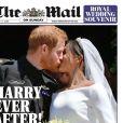 Les unes de quotidiens britanniques au lendemain du mariage du prince Harry et de Meghan Markle, le 20 mai 2018.