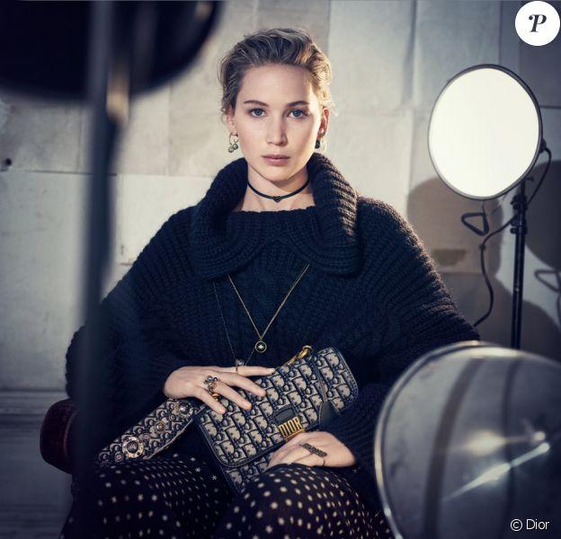 Jennifer Lawrence, star de la nouvelle campagne automne-hiver 2018-2019 de la maison Dior.