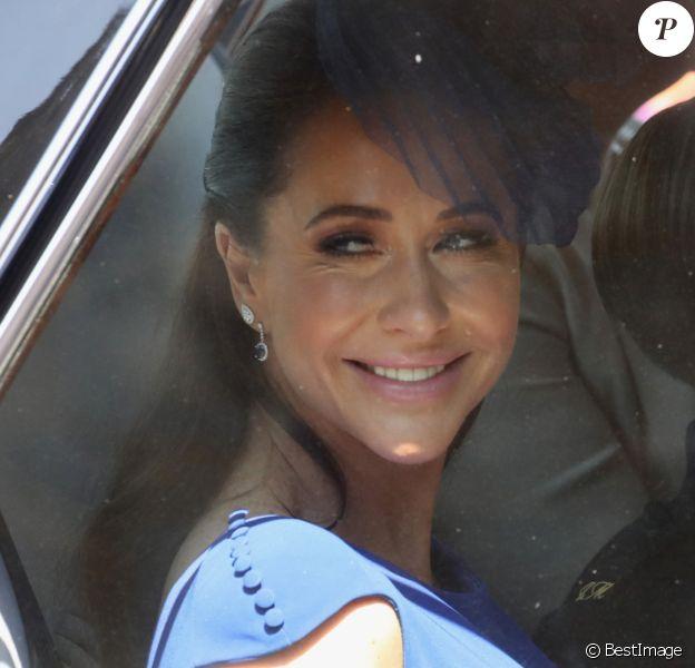 Jessica Mulroney - Les invités arrivent à la chapelle St. George pour le mariage du prince Harry et de Meghan Markle au château de Windsor, Royaume, Uni, le 19 mai 2018.