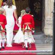 Pippa Middleton au mariage de sa soeur Kate et du prince William à Londres le 29 avril 2011